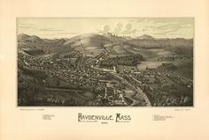 Haydenville, Massasuchetts. 1886 Year: 1886 City: Haydenville County: Hampshire State: Massachusetts Country: United States