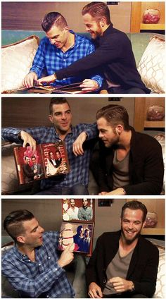 Zachary Quinto & Chris PIne - I don't know what this is but I have to find it now.