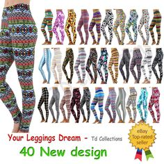 This leggings is stretchy very well. When you wear this leggings, you will feel the comfort and very soft fabric. Print Leggings, Tight Leggings, Pattern Print, Print Patterns, Good Stretches, Lace Crop Tops, Cropped Top, Sleeveless Shirt, Jeggings