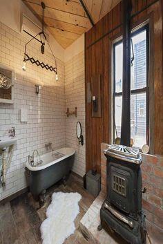 A glimpse of the bathroom at Urban Cowboy.