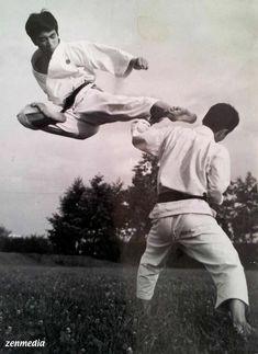 Kanazawa Soke & Enoeda Shihan Kyokushin Karate, Shotokan Karate, Taekwondo, Thai Boxe, Goju Ryu, Fighting Poses, Martial Artists, Action Poses, Aikido