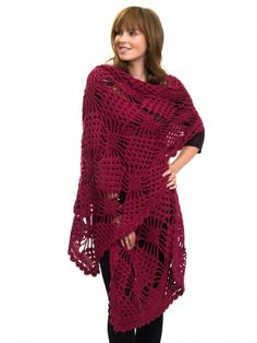 Spider Stitch Wrap   Yarn   Free Knitting Patterns   Crochet Patterns   Yarnspirations