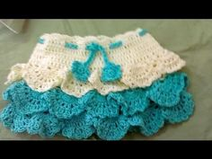 ▶ Crochet Layer Baby Frock and Skirt - YouTube