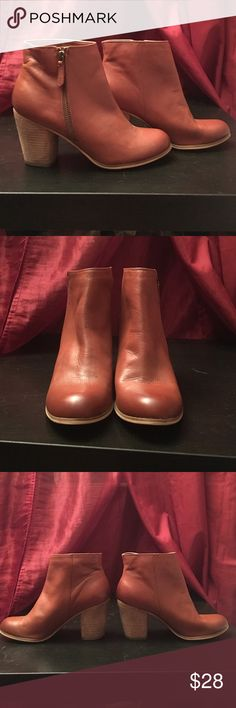 BP ankle booties Nordstrom BP super cute cognac booties. They are the perfect cognac shade and go with everything from denim to dresses. Like new condition, slight scuffing on the bottom. Ultra lightweight boot. bp Shoes Ankle Boots & Booties
