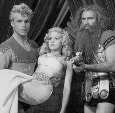 """Flash Gordon (Larry """"Buster"""" Crabbe), Dale Arden (Jean Rogers), and Prince Thun (Charles Pierce) - Flash Gordon Flash Gordon, Fiction Movies, Science Fiction Art, Christopher Eccleston, Fantasy Movies, Sci Fi Fantasy, Doctor Who, Old Movie Posters, Sci Fi Comics"""
