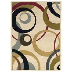 Oriental Weavers Evanston Saturn Ivory 5 ft. x 7 ft. 3 in. Area Rug - 288496 at The Home Depot