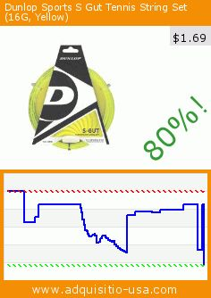 Dunlop Sports S Gut Tennis String Set (16G, Yellow) (Sports). Drop 80%! Current price $1.69, the previous price was $8.46. http://www.adquisitio-usa.com/dunlop-sports/s-gut-tennis-string-set