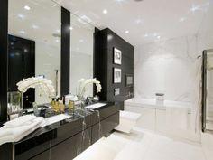 Black and White Bathroom Decor . 24 Luxury Black and White Bathroom Decor . How to Master the Black Bathroom Trend Pivotech Small White Bathrooms, Grey Bathrooms Designs, Black And White Tiles Bathroom, White Bathroom Decor, Black Vanity Bathroom, Bathroom Design Small, White Decor, Bathroom Interior, Bathroom Ideas