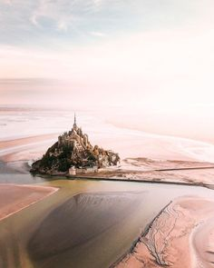 Mont Saint-Michel by Mont Saint Michel France, Le Mont St Michel, Normandy France, Aerial Drone, Visit France, France Photos, Drone Photography, Great Pictures, Amazing Photos