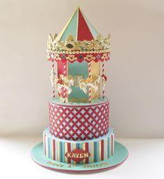 carousel cake.
