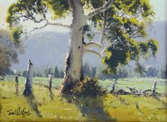 Australian landscape paintings by John Wilson.