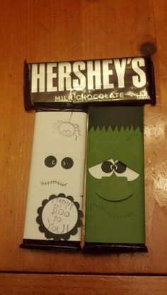 Mummy & Frankenstein candy bar wraps
