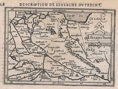 1618 - Utrecht Holland Amersfoort Vianen map Karte Hondius Kupferstich