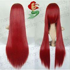 ORIGINAL-STYLE-THE-LITTLE-MERMAID-ARIEL-COSPLAY-RED-LONG-HAIR-WIG-COSTUME
