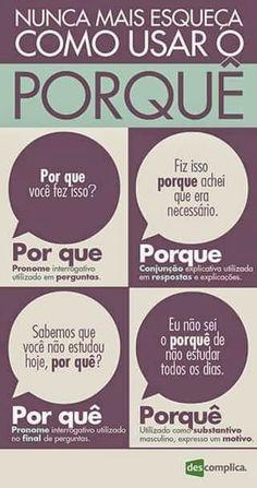 Aulas de português . Os por que.!