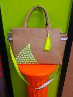 Hey, I found this really awesome Etsy listing at https://www.etsy.com/listing/151843129/large-neon-neutral-faux-leather-purse