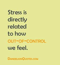 we all need some control because sometimes we are way over the edge. With PTSD our body feels like things are out of control too since our mind body reactions to our memories become automatic when we are triggered.