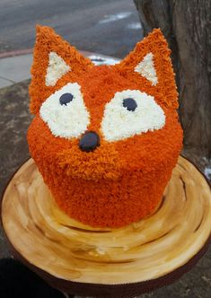 Fox smash cake for 1 yr old birthday