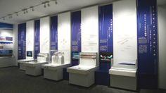JR東海「リニア・鉄道館」内覧会の画像 | 意匠太郎☆デザイナーな日々 Stand Design, Display Design, Booth Design, Wall Design, Display Ideas, Interior Design Exhibition, Exhibition Stall, Museum Exhibition, Student Work Wall