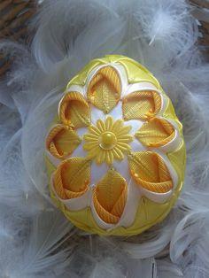 Veľkonočné vajíčka ,,,patchwork,,, / AgiHandmade - SAShE.sk - Handmade Dekorácie Fabric Ribbon, Soccer Ball, Folk, Easter, Cute, Crafts, Image, Flowers, Scrappy Quilts