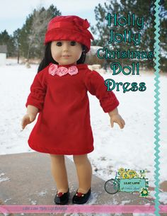 """Hello! It's the season to be merry, and I'm sharing my joy with you by giving you this FREE downloadable pattern. This pattern is made for 18"""" dolls like"""