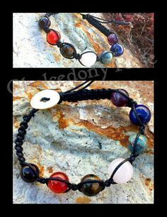 Chakra Shambala bracelet -  7 gemstone beads  Made to order  Go to www.facebook.com/chalcedonyrose  FREE post within Australia
