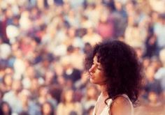 Grace Slick on stage at Woodstock, 1969.