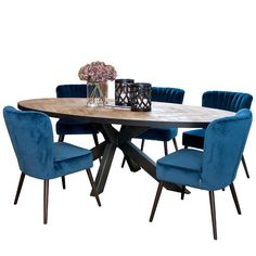 Sussex Oak Parquet Industrial Oval Dining Table and Velvet Chairs Cutout Oval Dinning Table, 8 Seater Dining Table, Reclaimed Wood Dining Table, Industrial Dining, Modern Dining Table, Extendable Dining Table, Dining Room Table, Dining Chairs, Dining Decor