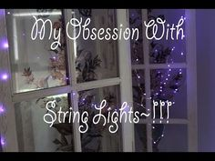 My obsession with purple string lights!