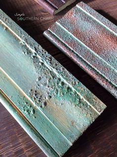 Texture samples for Fusion Mineral Paint by Homestead House #crustypaint #fauxfinishes #copperpatina   Simple Southern Charm