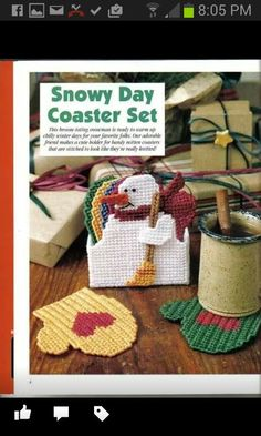 Snowy Day Coaster Set 1/2