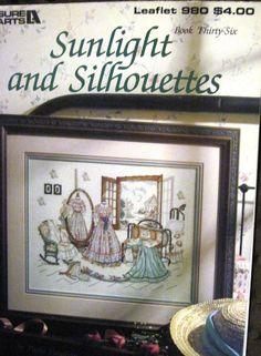 Paula Vaughan Sunlight & Silhouettes Cross Stitch Pattern Leisure Arts 1989 GUC #LeisureArts #CountedCrossStitch