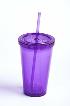 Purple 2Go Cup with Straw and Lid