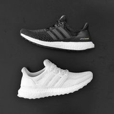 NEW IN!  The black and white Adidas UltraBoost W is now available!  The Ultra Boost is specifically designed to provide a natural running flow. This womens' running features a sock-slip Adidas Primeknit upper along with the iconic energy-returning plush boost Mid-sole allowing extreme stability and cushioning through every step.  #SupplyingGirlsWithSneakers