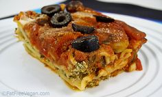 Next Vegan Recipe To Try. M Lasagna isn't usually considered quick and easy, but my Easy Vegan Spinach and Mushroom Lasagna comes together in no time. It's vegan and low in fat and you can use whole wheat noodles for added nutrition. Mushroom Lasagna, Spinach Lasagna, Veggie Lasagna, Lasagna Noodles, Meatless Lasagna, Potato Lasagna, Fat Free Vegan, Whole Food Recipes, Cooking Recipes