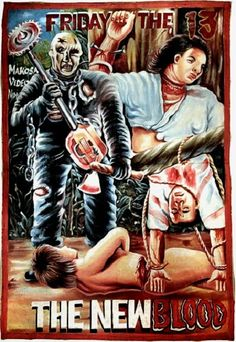 Fright Nights - Hand drawn Horror Movie posters from Ghana | Warped Factor - Daily features and news from the world of geek