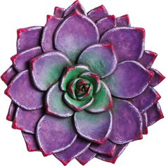 Complement vibrant blooms in the front garden or flower patch with this lovely stone, featuring a textured succulent design.   Product: ...