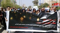 """Women protest against proposed Iraq law that would allow marriage of nine-year-old girls"""