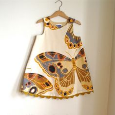 Butterfly baby toddler girls dress-  girls children's clothing - sizes newborn, 3m, 6m, 12m, 18m, 4t