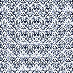 Damask Azul Marinho - Minus