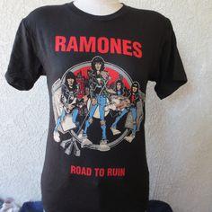 vintage  tshirt Ramones band road to ruin johny by Hurrycane69, $34.99