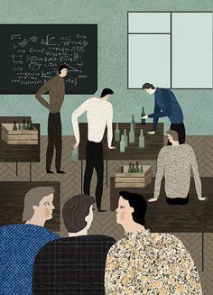 Katerina Gorelik's textural illustrations mix the everyday with the dramatic Flat Illustration, Character Illustration, Witch Eyes, More Than A Feeling, Its Nice That, Its A Mans World, Great Words, Freelance Illustrator, Storytelling