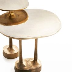 Mushroom side tables sandcast in brass designed by George Yabu and Glenn Pushelberg for Henge ❤️ @henge07 @yabupushelberg #henge…