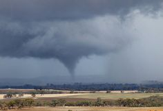 #Tornado sweeps over countryside near York, east of Perth, WA.    Courtesy of Mary Wilson  07/06/2012