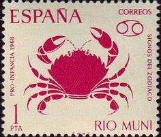 Spain -Colonia de Río Muni, serie del zodíaco (1968)