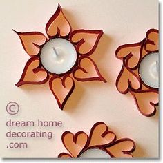 Valentine tealight crafts from paper strips