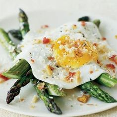 Fried Eggs with Asparagus, Pancetta and Bread Crumbs // Williams-Sonoma Kitchen