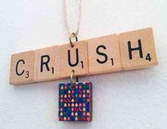 Art/necklace - candy crush on display Saga Art, Candy Crush Saga, Cute Candy, Art Necklaces, Crushes, Things To Come, Christmas Tree, Ornaments, Scrabble