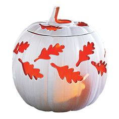 Autumn Pumpkin Large candle Holder  Reg Price:  $42.95 each   SALE Price: $25.00 each