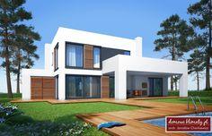 Projekt domu Kaskada N 159.41 m² - Domowe Klimaty Home Design Plans, Civil Engineering, Home Fashion, Ideas Para, Villa, Floor Plans, House Design, Mansions, House Styles